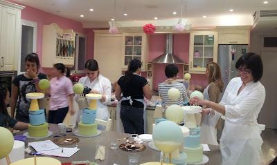 curso de tarta de los ositos traviesos: qué bien nos lo pasamos!!