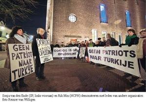 Afbeeldingsresultaat voor oorlog is geen oplossing patriot raketten turkije