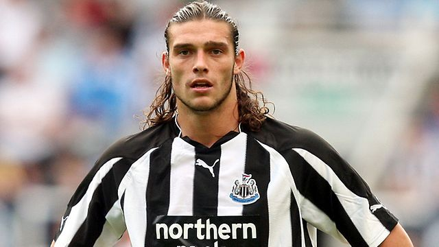 the best footballers  andy carroll plays as a striker the