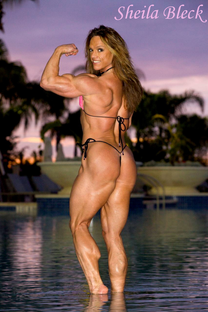 Sheila Bleck Flexing A Bicep, Calves And Modeling Her Great Butt