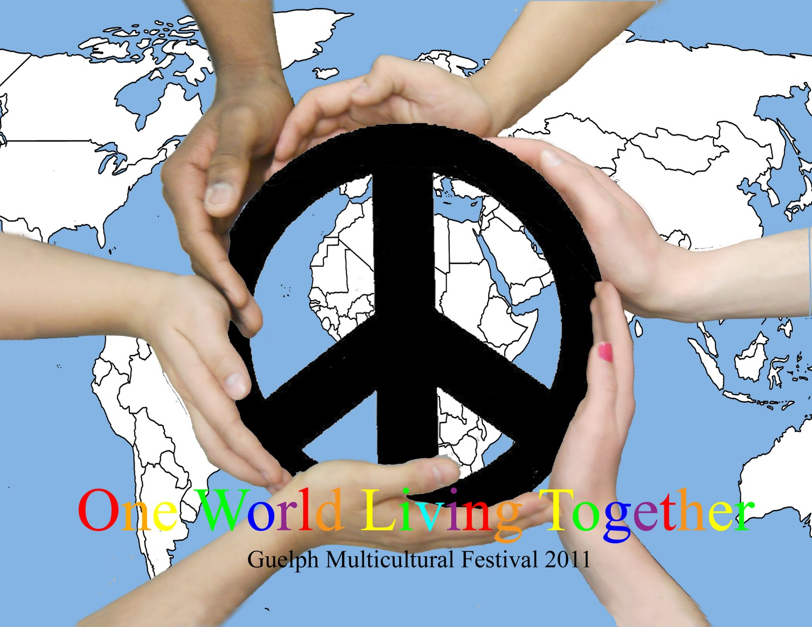 Jessica multicultural assignment for my multicultural poster i decided to make its main focus point a peace symbol surrounded by hands of different cultures i thought it was a good way to biocorpaavc Image collections