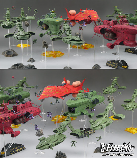 zeon army mother ship ready to war