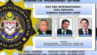 SPRM cari tiga individu bantu siasatan SRC