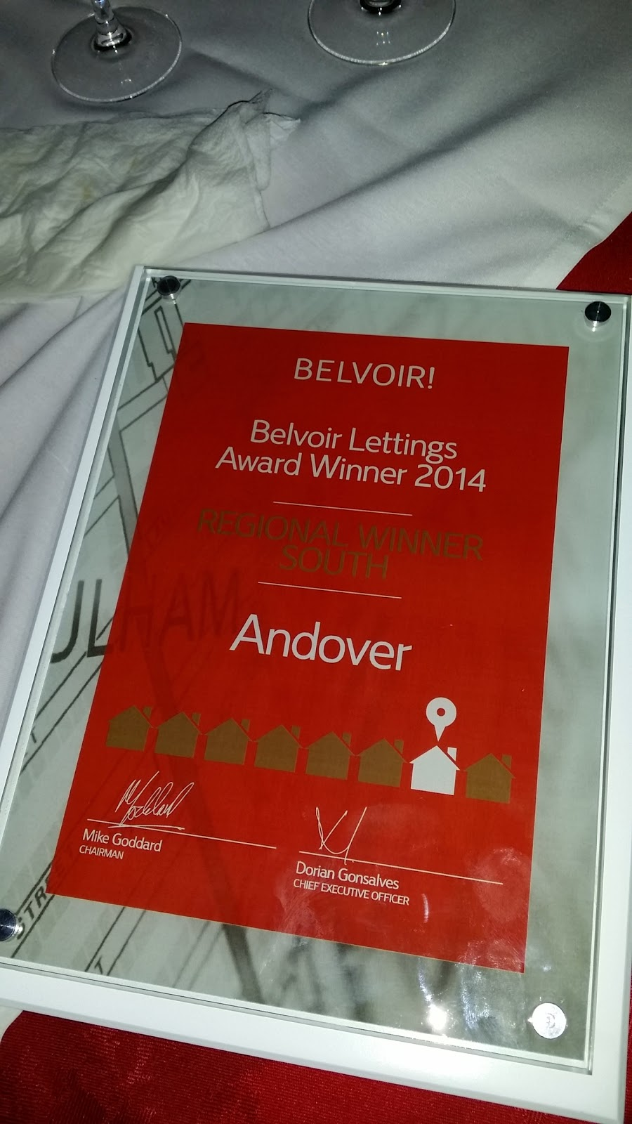 Belvoir Andover Award 2014