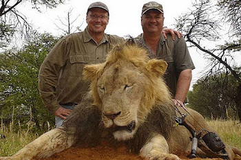 Facebook Photo Shows the Doc and Friend Posing With another Dead Lion