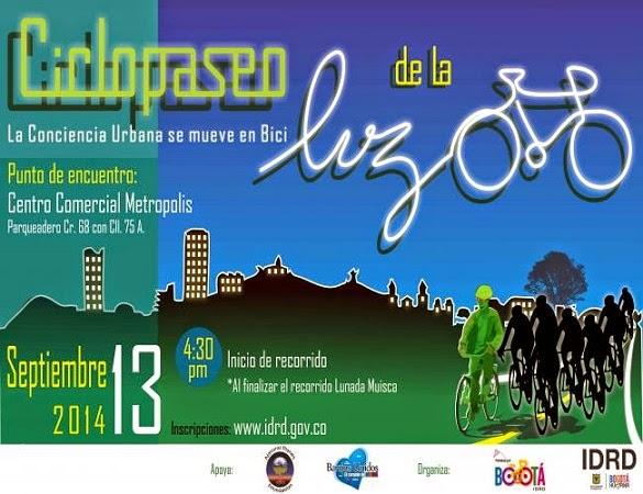 Ciclopaseo de la luz - Bogota