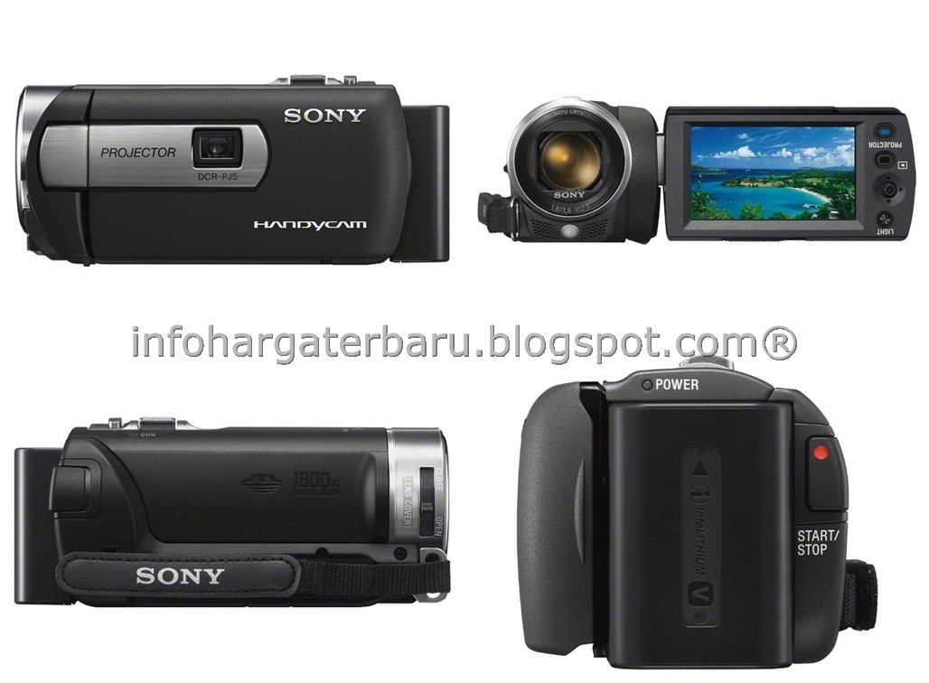 Harga Sony Handycam DCR-PJ5 | Projector | Spesifikasi 2012