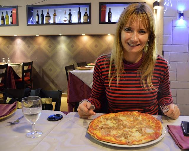 Nowy Rok w Rzymie. Pizza