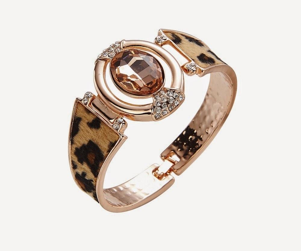 Leopard print bangle