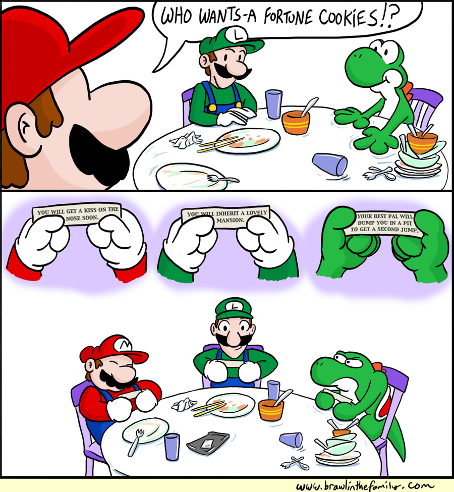 Mario Luigi And Yoshi Fortune Cookies Metallmans Reverie