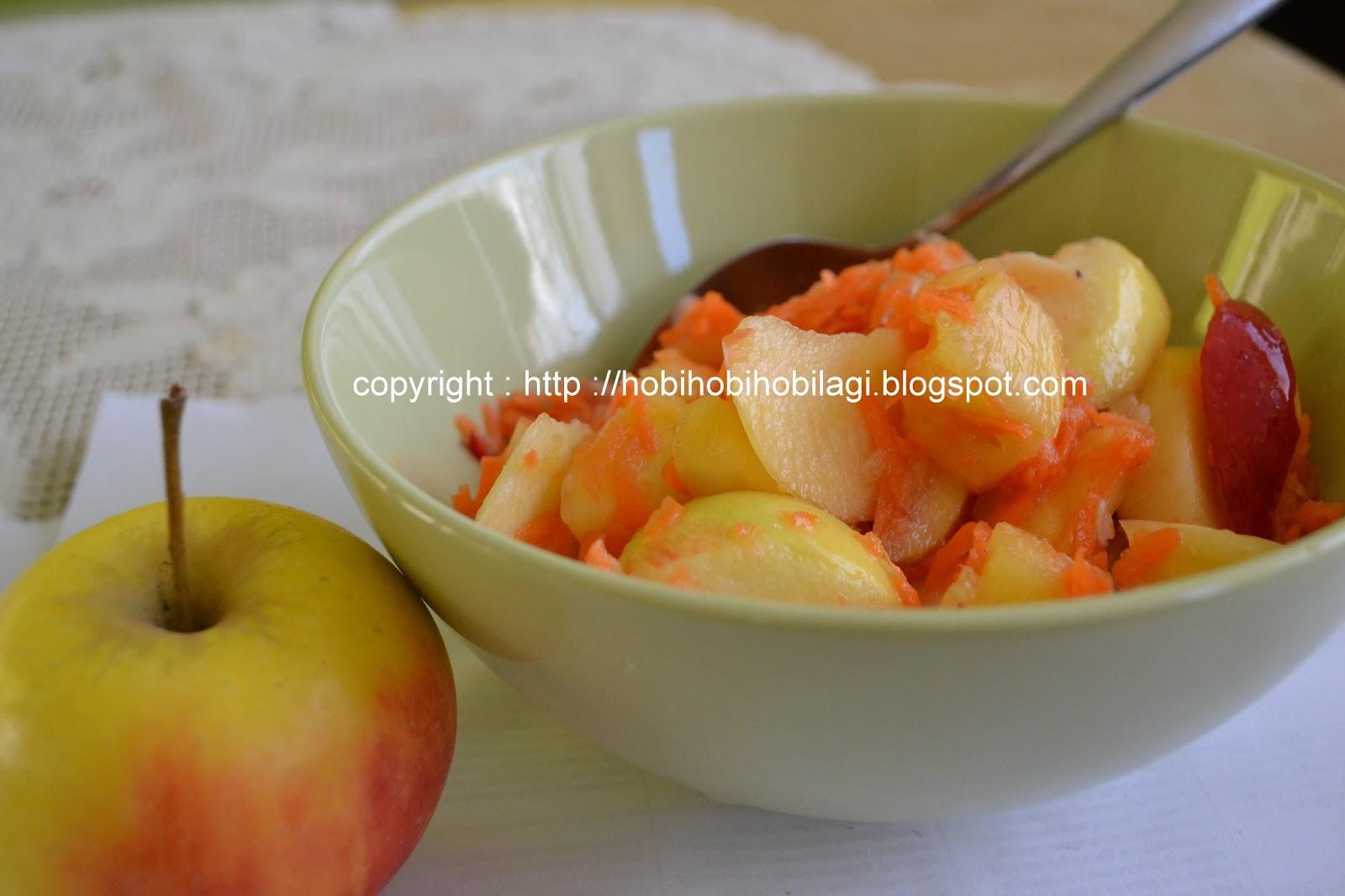 buah-buahan dipotong menurut selera, campur dengan semua bahan yg ...