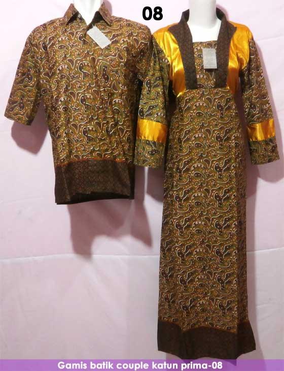 Gamis Batik Couple Kode 08