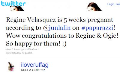 Regine Velasquez pregnant
