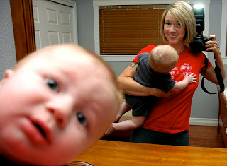 funny cute baby photobomb