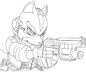 #13 Fox McCloud Coloring Page