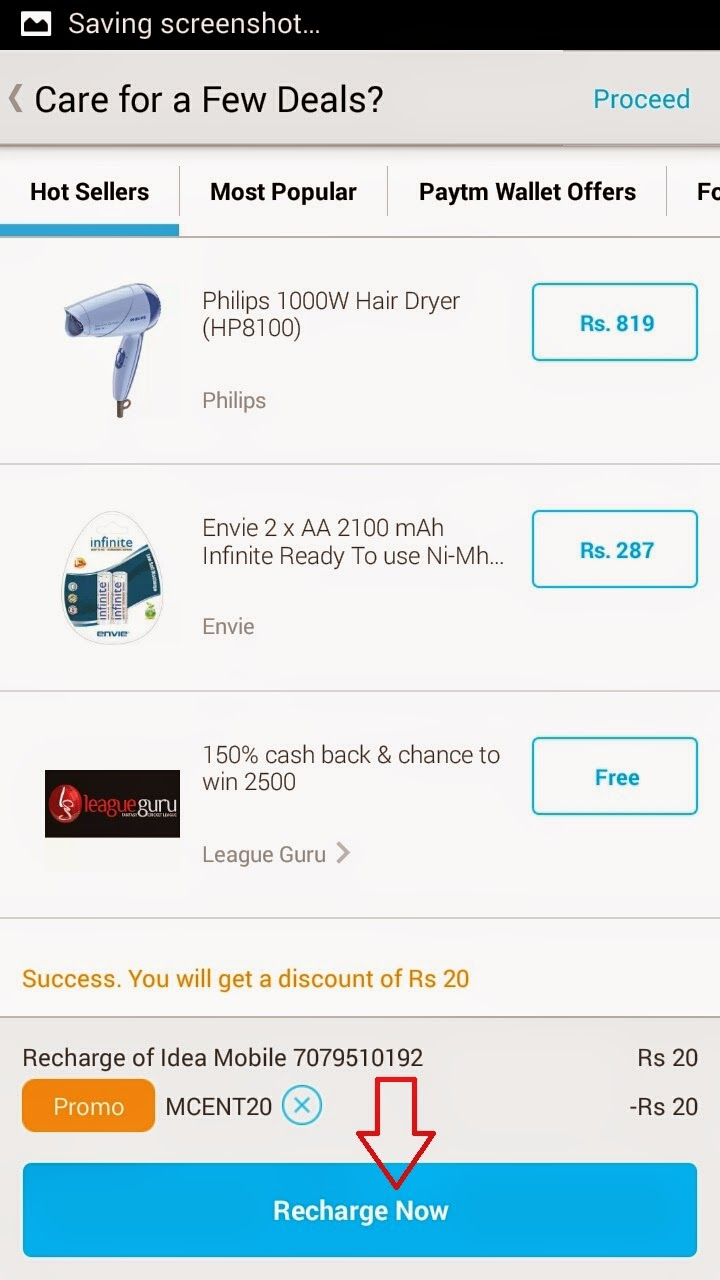 paytm free trick for mobile recharge of Rs 20