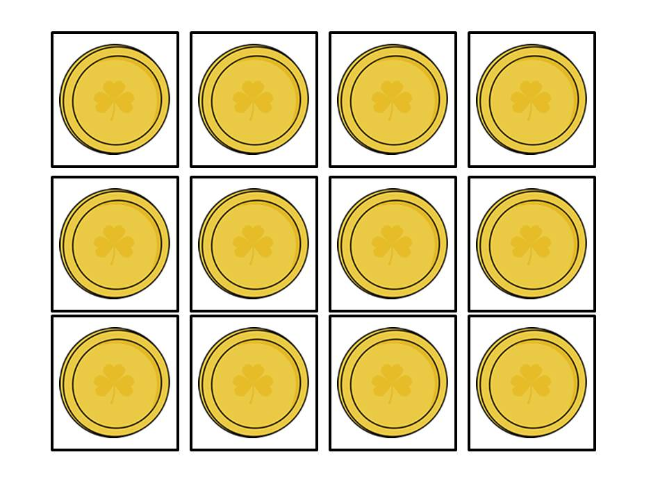 Luscious image regarding gold coin template printable