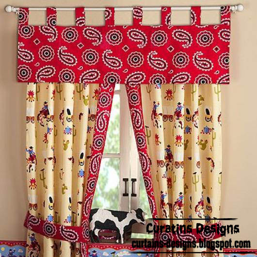 kids curtain designs - Stylish curtain and valance for kids room, children's curtains