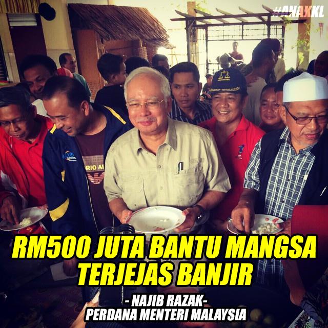 #prayforkelantan Najib umum bantuan RM500 juta #prayforpantaitimur