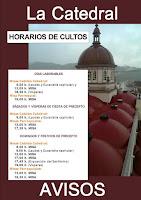 HORARIOS DE CULTOS