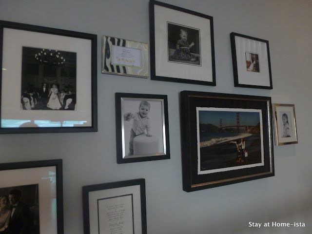 gallery wall with baby photos