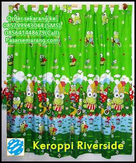 Keroppi Riverside Murah Gorden Karakter Kartun Kodok Hijau