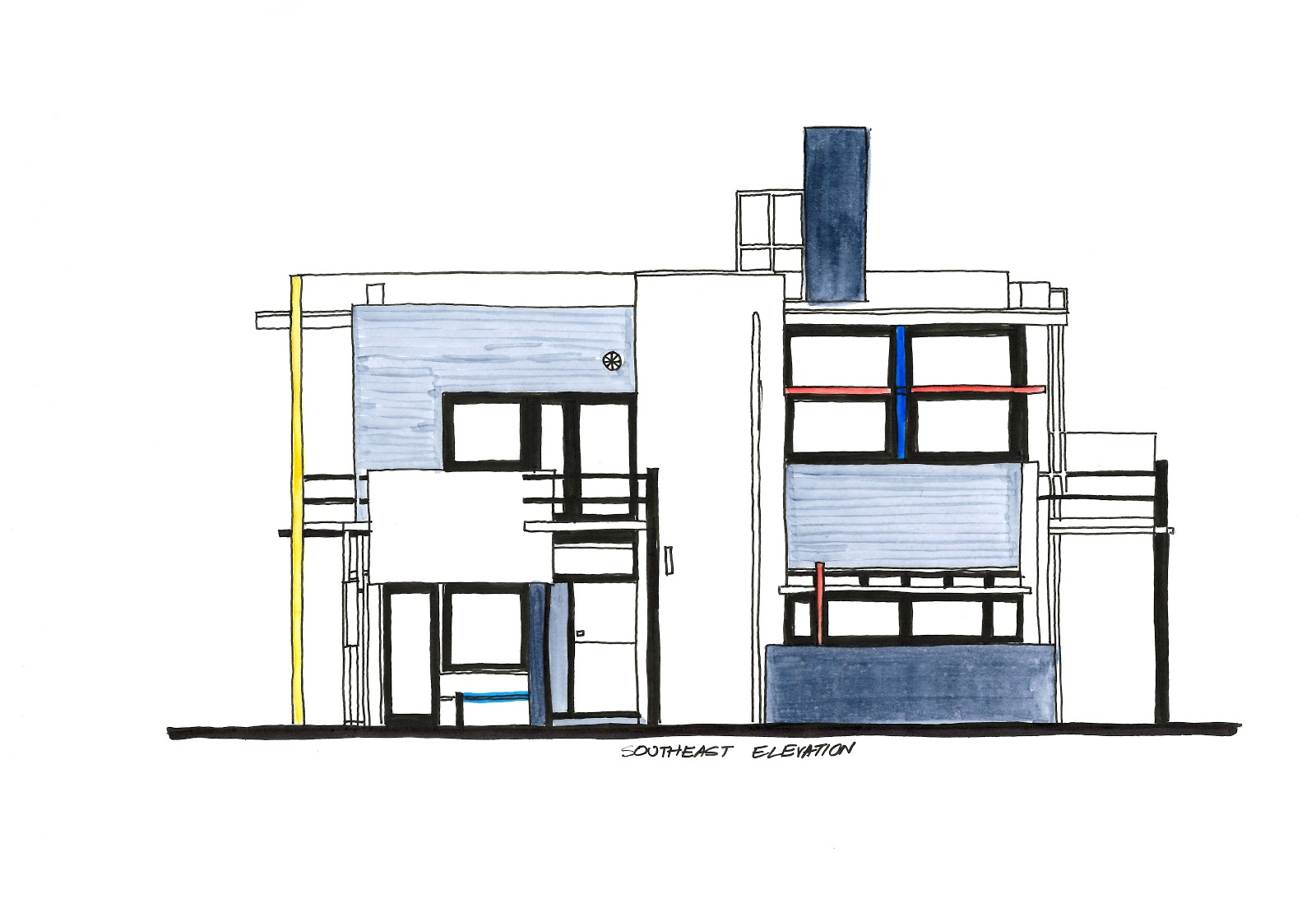 The Rietveld Schroder House Diagrams An In Depth