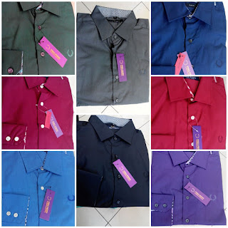 Kemeja polos Fred Perry slim Fit