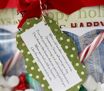 Tiffanys Paper Designs: Snowman Soup. Cute Christmas class treats.