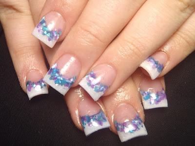 Nail Arts Fashion Colorful French Nail Art Designs