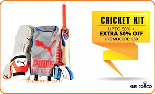 Cricket Accessories & kits upto 50% off