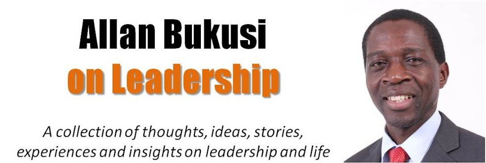 Allan Bukusi, on Leadership