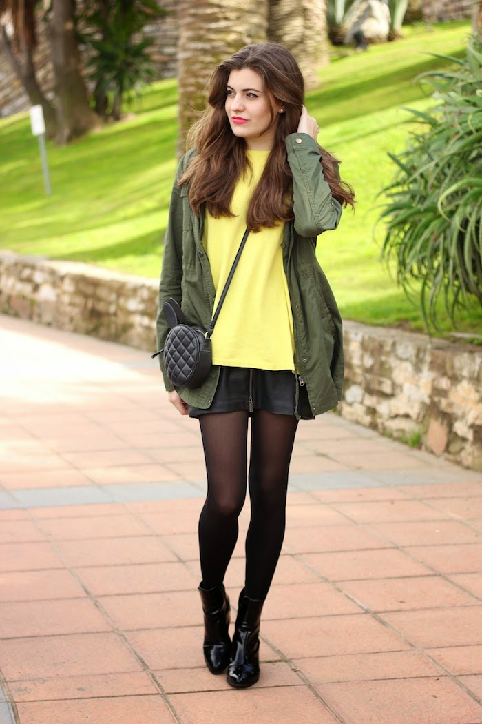 jersey_amarillo_sweater_yellow_zara_bolso_bunny_asos_conejito_conejo_orejas_negro_parka_verde_stradivarius_impassiones_mac_angicupcakes02