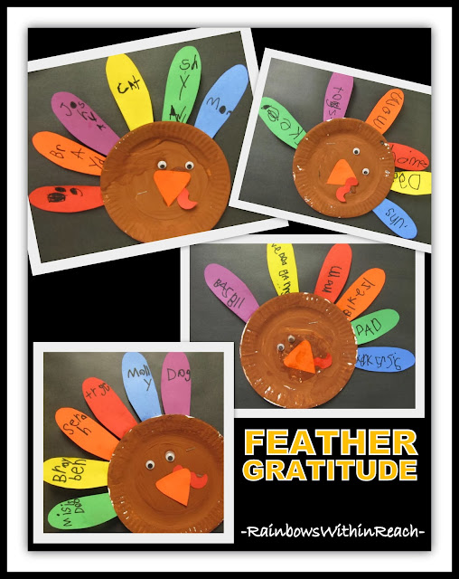 Turkey Feathers of Gratitude via RainbowsWithinReach