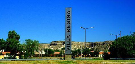 Cartel promoción de Villa Regina, la Perla del Valle.