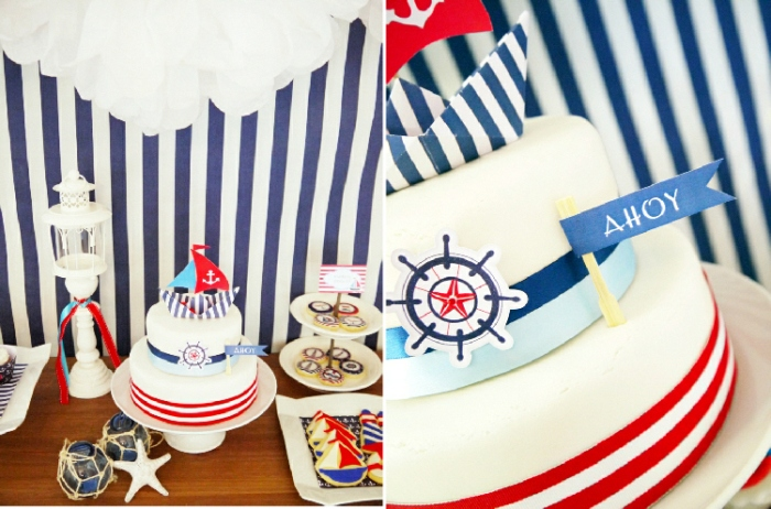 A Preppy Nautical Maritime Inspired Party and Deserts Table Printables