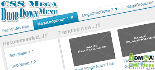 Awesome CSS Mega Drop Down Menu With Links And Thumbnail