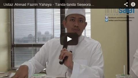 Ustaz Ahmad Fazrin Yahaya – Tanda-tanda Seseorang Mencintai Rasul