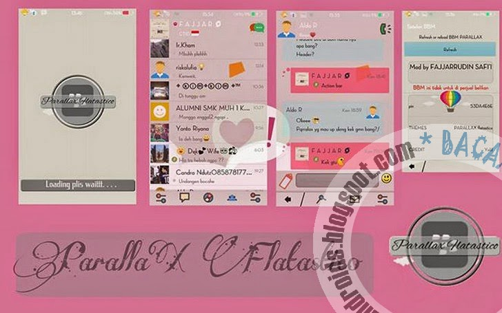download BBM Mod Tema Parallax Flatastico Apk