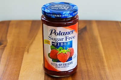 Then I added 1/2 cup sugar free strawberry preserves and the same ...