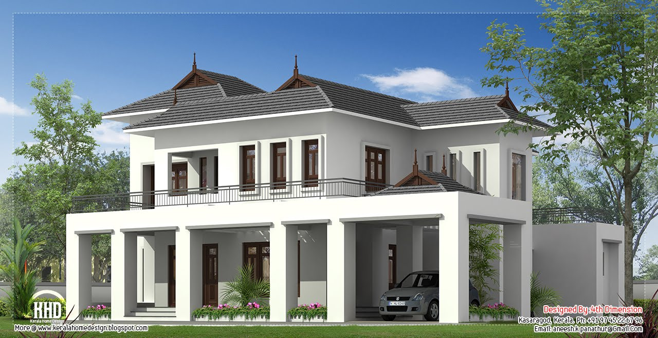 2500 square feet house elevation kerala house design idea for Home design 900 square