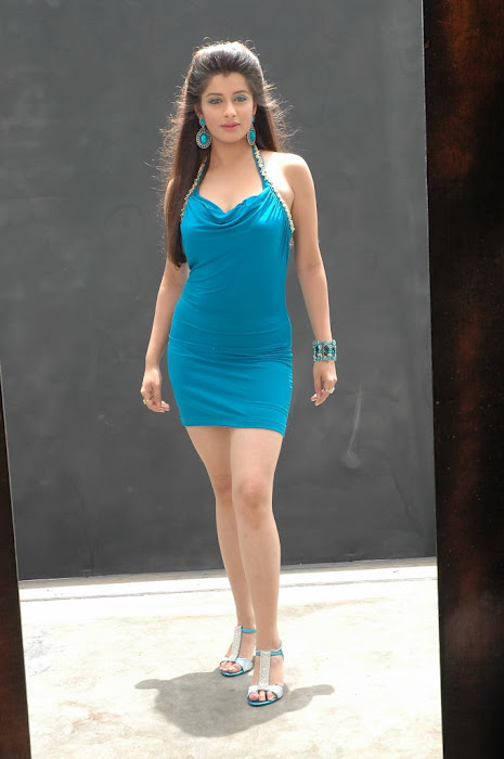 Madhurima Pics in Blue Tight Short Skirt with Silver Heels in Mahankali Movie