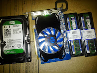 hard drive, video card, momory