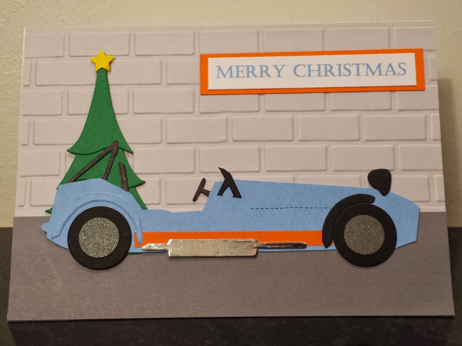 Handmade Caterham R500 Christmas Card