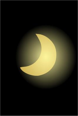 éclipse de soleil (illustration)