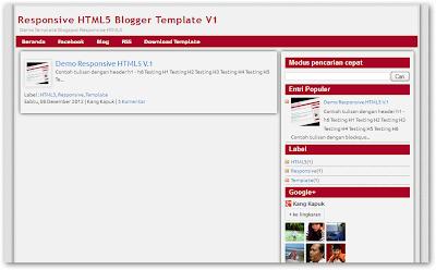 Download Template Responsive HTML5 Versi 2