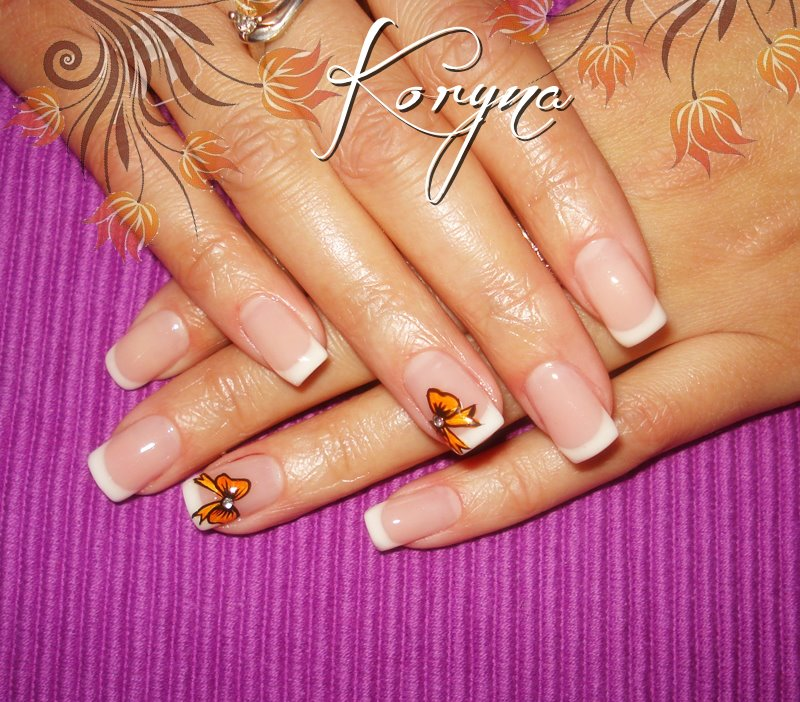 Nails Polish: uv gel nails -1-