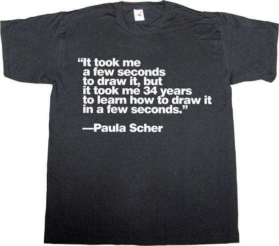 paula scher designer graphic design brilliant sentence t-shirt ephemeral-t-shirts