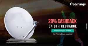 Freecharge Offer : Get 20% Cashback On DTH Recharge