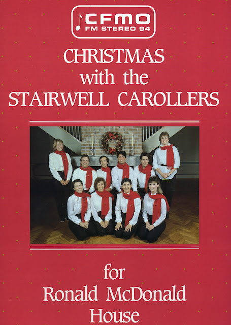Record album cover Christmas with the Stairwell Carollers